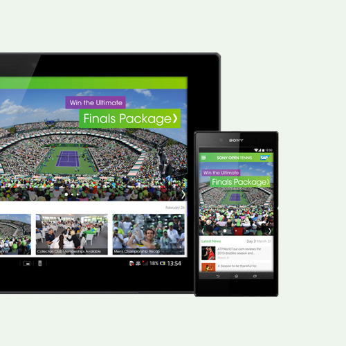 Sony Open Tennis App